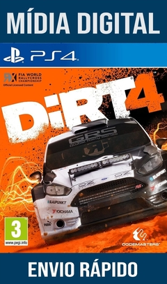 Dirt 4 Ps4 Psn Original 1 Mídia Digital