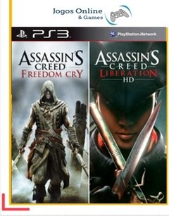 Pacote Assassins Creed Liberation And Freedom Cry Blunde Ps3 Psn (Dub Br)