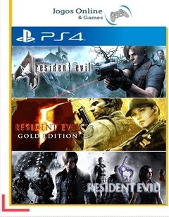 Pacote Resident Evil Triple Pack Ps4 Psn
