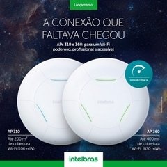 Roteador/Access Point Intelbras Corporativo 300Mbps Check-in Facebook AP 310 - comprar online