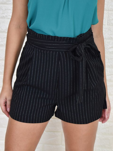 Short Clochard Risca de Giz Preto