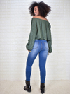 Cropped Crepe Verde