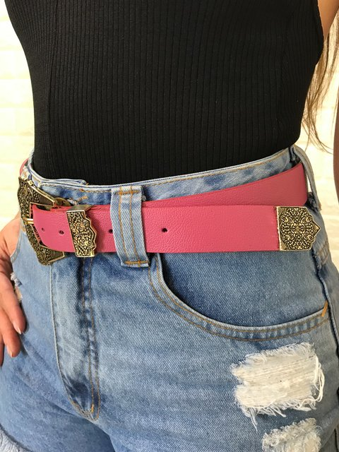 Cinto Western Pink