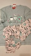 Pijama estampado coffee