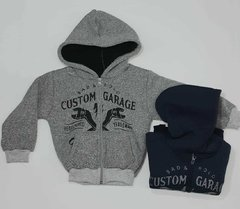 "Campera frisa con ""Custom Garage"""