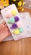 Kit Hair Clips Clara Pompom