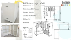 Biblioteca móvil plegable. en internet