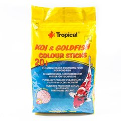 Tropical Koi & Goldfish Colour Sticks 20L (1,6kg) Ração para Peixes Ornamentais