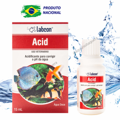 Alcon Labcon Acid 15ml regula o ph e acidez do aquário