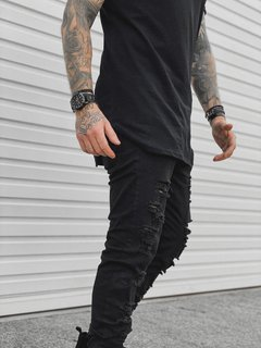 Calça Skinny Jeans BLACK DESTROYED