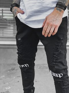 Calça Skinny Jeans STREET BLACK DESTROYED
