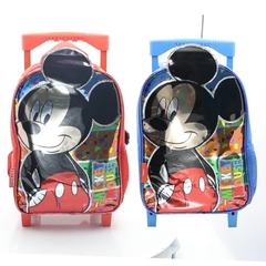 Mochila Mickey Mouse infantil smile fun con carro