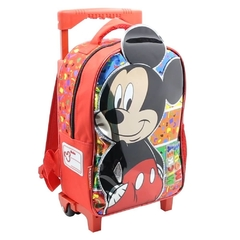 Mochila Mickey Mouse infantil smile fun con carro en internet