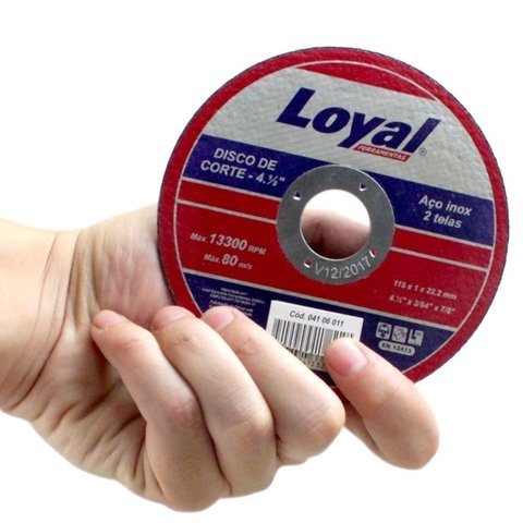 "Disco de Corte Metal 2 Telas (3"") - LOYAL"