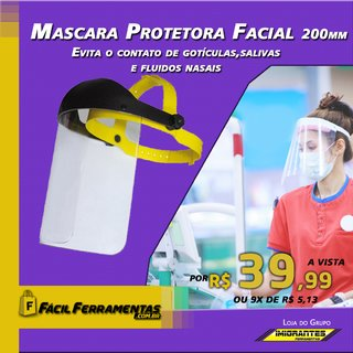 MASCARA PROTETORA FACIAL ARTOCH 200mm