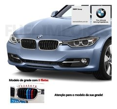 Imagem do Aplique para Grade Frontal Bmw 320 325 328 330 2013 A 2018 estilo Motorsport M3