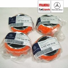 Kit 4 Calotas Centro Roda Mercedes Benz Amg 75mm Laranja na internet