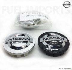 1x Calota Roda Nissan March Versa 54mm Prata Preto Original