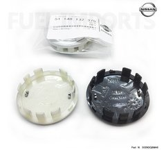 Imagem do 1x Calota Roda Nissan March Versa 54mm Prata Preto Original