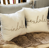 SET DE ALMOHADONES INHALE - EXHALE