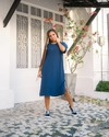 Maxi T-shirt Dress Azul