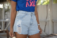 SHORT JEANS DESTROYED DONA - comprar online