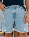 SHORT JEANS DESTROYED MASCULINO