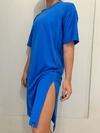 MAXI T-SHIRT DRESS AZUL BIC
