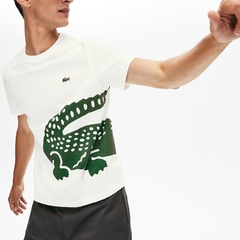 CAMISETA LACOSTE BIG CROCO - BRANCO
