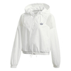 JAQUETA CROPPED ADIDAS  WINDBREAKER - BRANCO