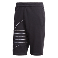 SHORTS BIG ADIDAS TREFOIL SWEAT - PRETO