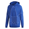 MOLETOM ADIDAS  BIG TREFOIL OUTLINE - AZUL