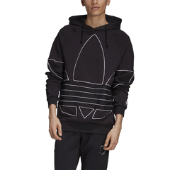 MOLETOM ADIDAS BIG TREFOIL OUTLINE - PRETO