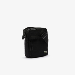 SHOULDER BAG LACOSTE NEOCROC CANVAS - PRETO