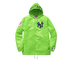 JAQUETA SUPREME NEW YORK YANKEES X 47 BRAND SATIN - VERDE