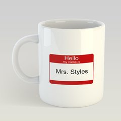 "Caneca Harry Styles  ""Mrs Styles"""