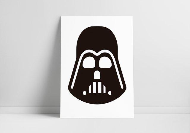 Placa Em Mdf Darth Vader Star Wars Loja Trem De Nerd