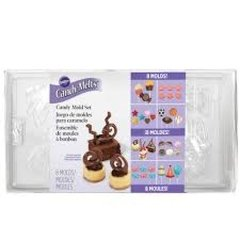 Moldes para chocolate y caramelo Candy Mold(TM) Set de 8 Wilton®