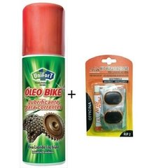 Óleo Bike Lubrificante Corrente Unifort 65ml + Kit Reparo