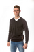Sweater Cuello en V Negro en internet
