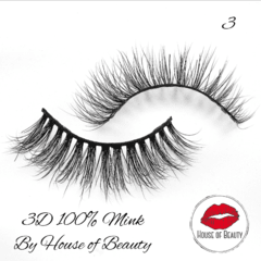 Pestañas 3D 100% Mink House of Beauty en internet