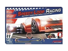 Pista De Autos Electrica 1 Giro Speedy Loop Racing Con Luz
