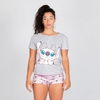 PIJAMA 100% ALGODON - ANGEL STITCH ROSA (REMERA)
