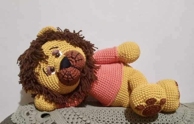 Amigurumi de Crochê Leão (Médio) | Padrões de animais de crochê ... | 410x640
