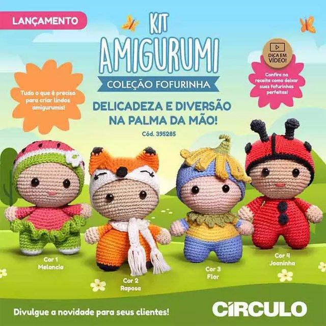 Kit Amigurumi - 04 - Leão - Total Bojos | 640x640