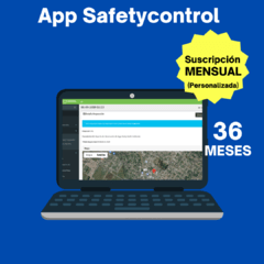 App Safetycontrol (Plan 36 Meses para 1 Usuario) en internet