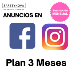 Publicidad y Marketing: Anuncios en Facebook - Instagram (Plan 3 Meses)