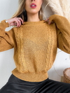 Sweater ancho doble trenza Dalia