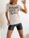 Remera flame viscosa Fight like a girl - comprar online