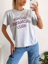 Remera estampada Social distancing Club - comprar online